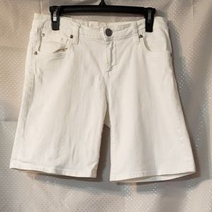 KUT FROM THE CLOTH WHITE DENIM SHORTS SIZE 6